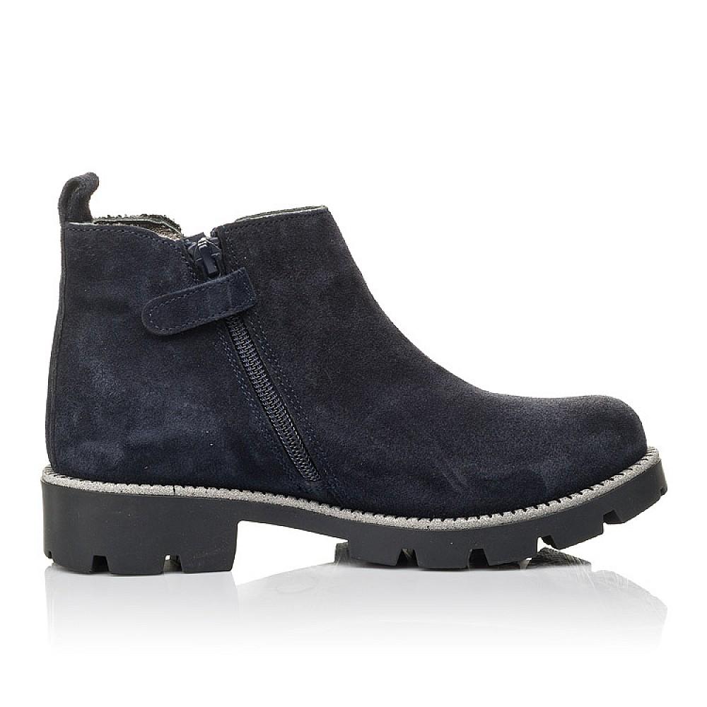 Детские демисезонные ботинки Woopy Fashion синие для девочек натуральная замша, текстиль размер 32-39 (4379) Фото 5