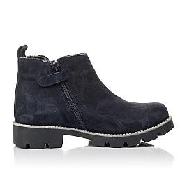 Детские демісезонні черевики Woopy Fashion синие для девочек натуральная замша, текстиль размер 39-39 (4379) Фото 5