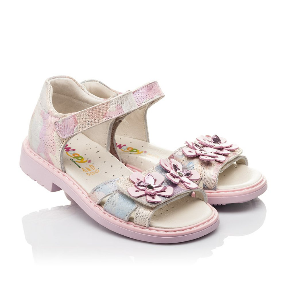 Детские босоножки Woopy Fashion розовые для девочек натуральный нубук размер 27-36 (4380) Фото 1