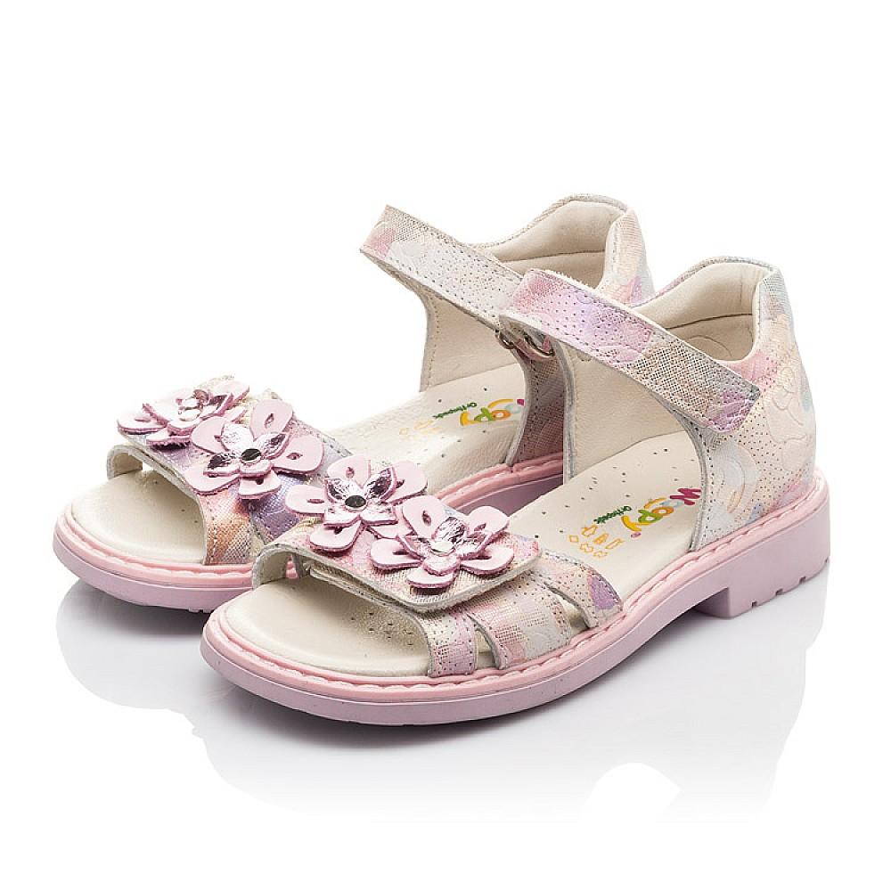 Детские босоножки Woopy Fashion розовые для девочек натуральный нубук размер 27-36 (4380) Фото 3