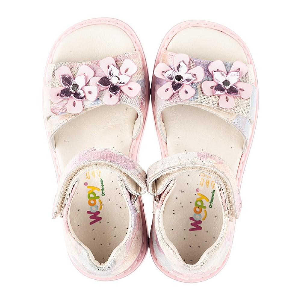 Детские босоножки Woopy Fashion розовые для девочек натуральный нубук размер 27-36 (4380) Фото 5