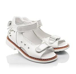Детские босоножки Woopy Fashion белые для девочек натуральная кожа размер 27-34 (4381) Фото 1
