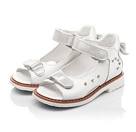 Детские босоножки Woopy Fashion белые для девочек натуральная кожа размер 27-34 (4381) Фото 3