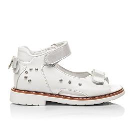 Детские босоножки Woopy Fashion белые для девочек натуральная кожа размер 27-34 (4381) Фото 4