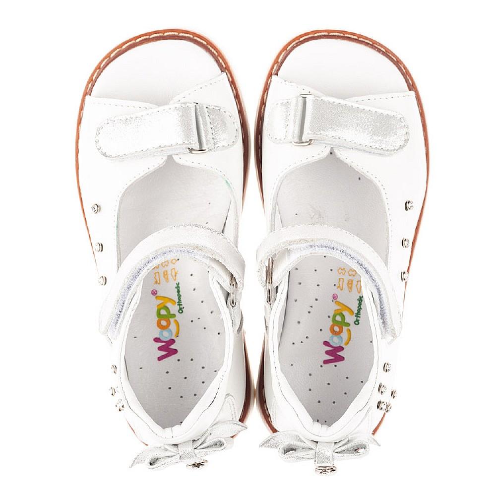 Детские босоножки Woopy Fashion белые для девочек натуральная кожа размер 27-36 (4381) Фото 5