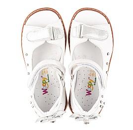 Детские босоножки Woopy Fashion белые для девочек натуральная кожа размер 27-34 (4381) Фото 5