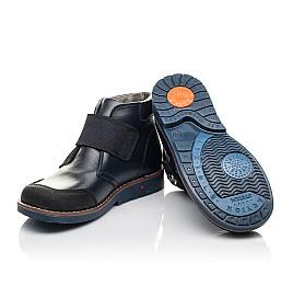 Детские демисезонные ботинки Woopy Fashion синие для мальчиков натуральная кожа размер 32-36 (4382) Фото 2