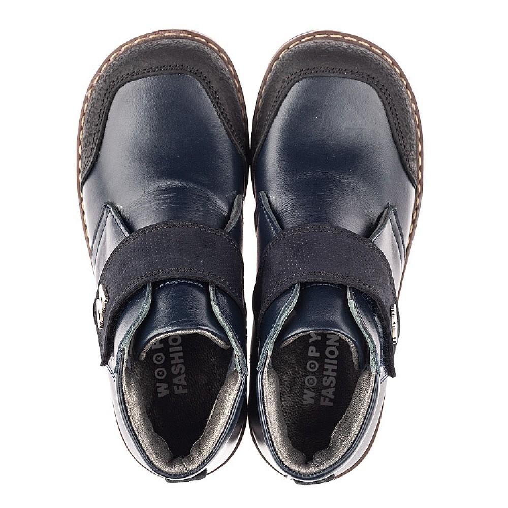 Детские демисезонные ботинки Woopy Fashion синие для мальчиков натуральная кожа размер 30-36 (4382) Фото 5