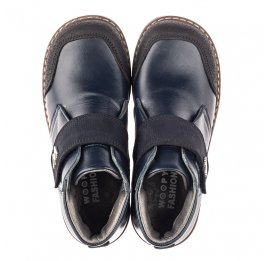 Детские демисезонные ботинки Woopy Fashion синие для мальчиков натуральная кожа размер 32-36 (4382) Фото 5