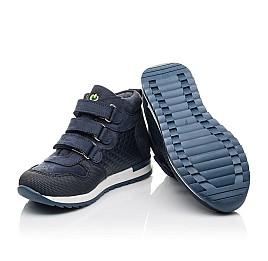 Детские демисезонные ботинки Woopy Fashion синие для мальчиков натуральный нубук размер 24-38 (4383) Фото 2
