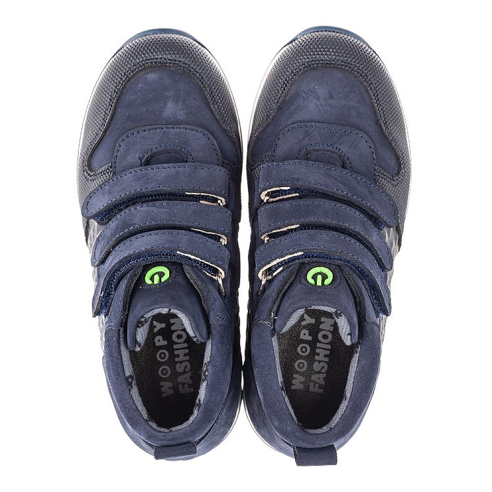 Детские демисезонные ботинки Woopy Fashion синие для мальчиков натуральный нубук размер 24-38 (4383) Фото 5
