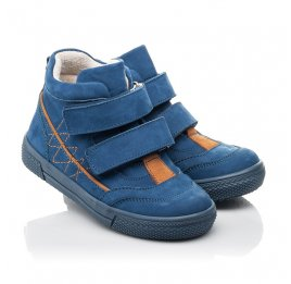 Детские демисезонные ботинки Woopy Fashion синие для мальчиков натуральный нубук размер 22-30 (4384) Фото 1