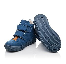 Детские демисезонные ботинки Woopy Fashion синие для мальчиков натуральный нубук размер 22-30 (4384) Фото 2