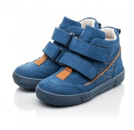 Детские демисезонные ботинки Woopy Fashion синие для мальчиков натуральный нубук размер 22-30 (4384) Фото 3