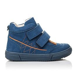 Детские демисезонные ботинки Woopy Fashion синие для мальчиков натуральный нубук размер 22-30 (4384) Фото 4