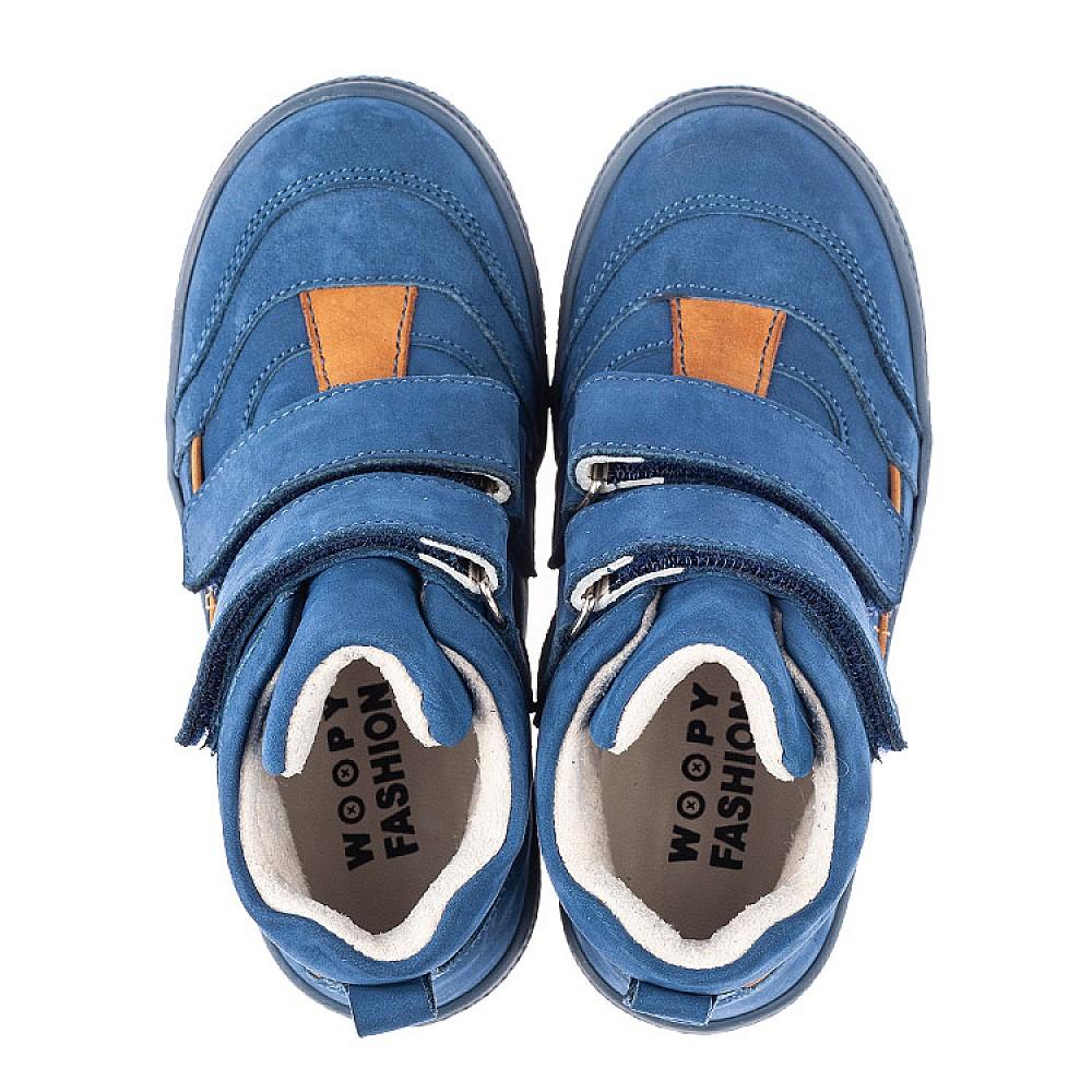 Детские демисезонные ботинки Woopy Fashion синие для мальчиков натуральный нубук размер 22-30 (4384) Фото 5