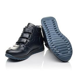 Детские демисезонные ботинки Woopy Orthopedic синие для мальчиков натуральная кожа размер 26-26 (4385) Фото 2