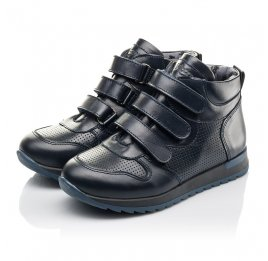 Детские демисезонные ботинки Woopy Orthopedic синие для мальчиков натуральная кожа размер 26-40 (4385) Фото 3