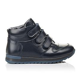 Детские демисезонные ботинки Woopy Orthopedic синие для мальчиков натуральная кожа размер 26-40 (4385) Фото 4