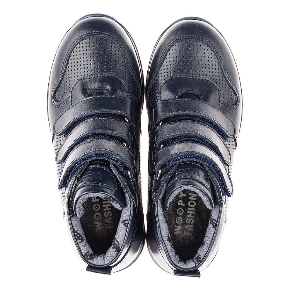 Детские демисезонные ботинки Woopy Orthopedic синие для мальчиков натуральная кожа размер 25-40 (4385) Фото 5