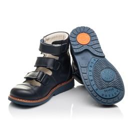 Детские ортопедические туфли (с высоким берцем) Woopy Fashion синие для мальчиков натуральная кожа размер 23-32 (4386) Фото 5