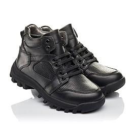 Детские демисезонные ботинки Woopy Fashion черные для мальчиков натуральная кожа размер 30-40 (4387) Фото 1