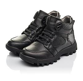 Детские демисезонные ботинки Woopy Fashion черные для мальчиков натуральная кожа размер 30-38 (4387) Фото 2