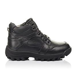 Детские демисезонные ботинки Woopy Fashion черные для мальчиков натуральная кожа размер 30-40 (4387) Фото 3
