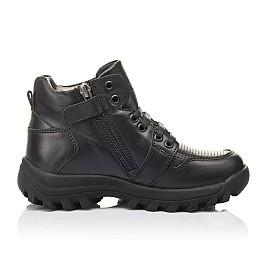 Детские демисезонные ботинки Woopy Fashion черные для мальчиков натуральная кожа размер 30-38 (4387) Фото 4
