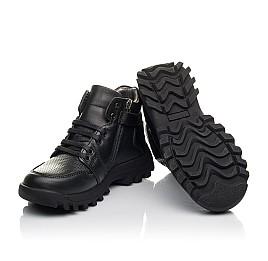 Детские демисезонные ботинки Woopy Fashion черные для мальчиков натуральная кожа размер 30-40 (4387) Фото 5