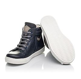 Детские демисезонные ботинки (внутри кожа) Woopy Fashion темно-синие для мальчиков натуральная кожа размер 28-40 (4388) Фото 2