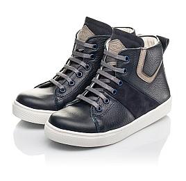 Детские демисезонные ботинки (внутри кожа) Woopy Fashion темно-синие для мальчиков натуральная кожа размер 28-40 (4388) Фото 3