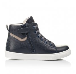 Детские демисезонные ботинки (внутри кожа) Woopy Fashion темно-синие для мальчиков натуральная кожа размер 28-40 (4388) Фото 5