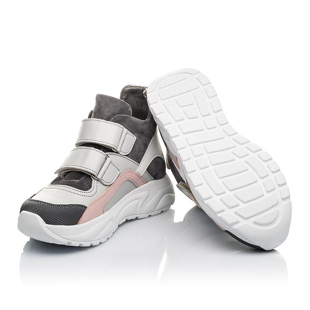 Детские демисезонные ботинки Woopy Fashion серые для девочек натуральная лаковая кожа и замша размер 26-40 (4390) Фото 2