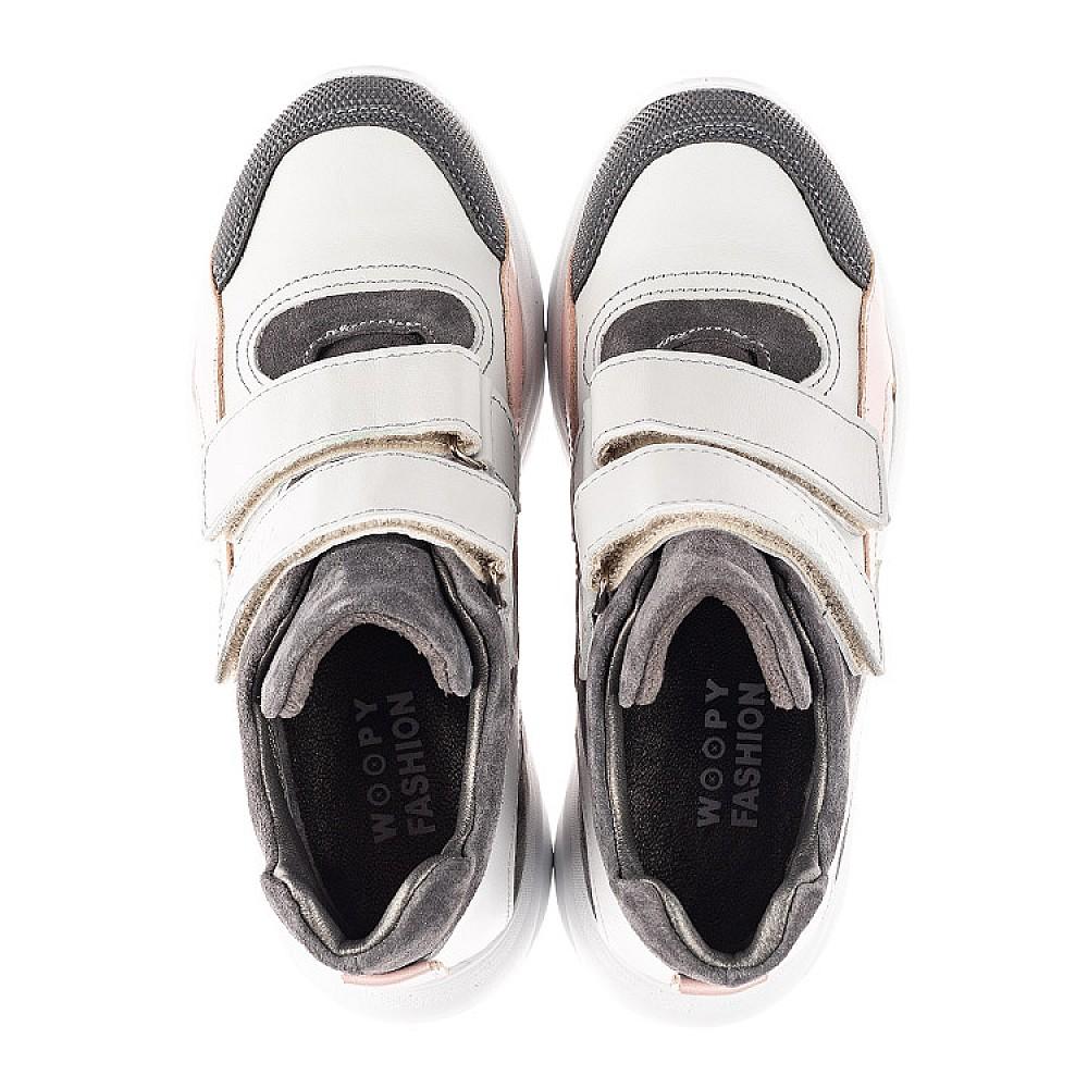 Детские демисезонные ботинки Woopy Fashion серые для девочек натуральная лаковая кожа и замша размер 26-40 (4390) Фото 5