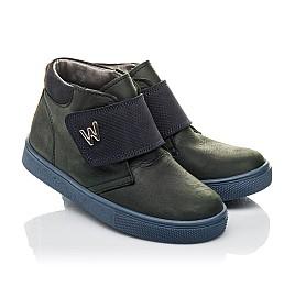 Детские демисезонные ботинки Woopy Fashion темно-синие для мальчиков натуральный нубук OIL размер 21-30 (4391) Фото 1