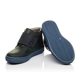 Детские демисезонные ботинки Woopy Fashion темно-синие для мальчиков натуральный нубук OIL размер 21-28 (4391) Фото 2