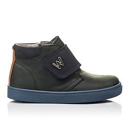 Детские демисезонные ботинки Woopy Fashion темно-синие для мальчиков натуральный нубук OIL размер 21-28 (4391) Фото 4
