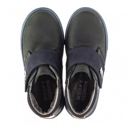 Детские демисезонные ботинки Woopy Fashion темно-синие для мальчиков натуральный нубук OIL размер 21-28 (4391) Фото 5