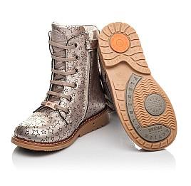 Детские  Woopy Fashion золотые для девочек натуральная кожа размер 24-36 (4393) Фото 2