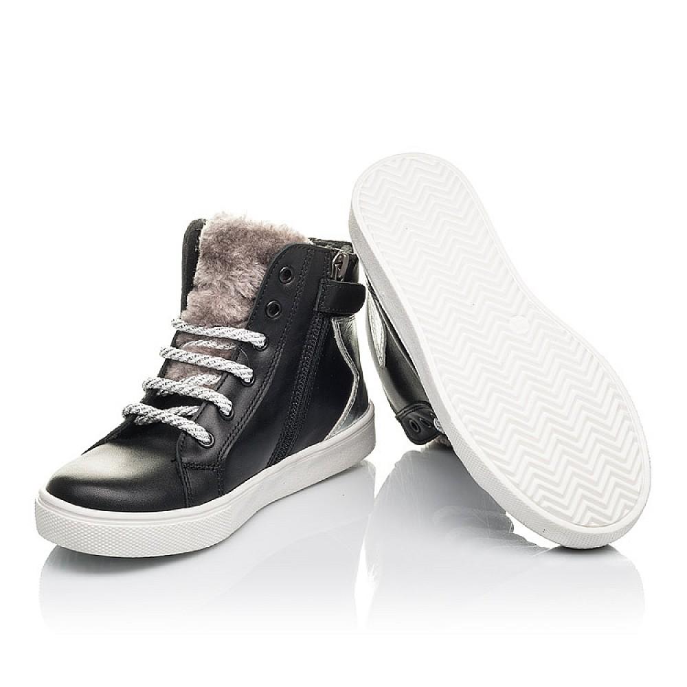 Детские демисезонные ботинки Woopy Fashion черные для девочек натуральная кожа размер 30-36 (4394) Фото 2