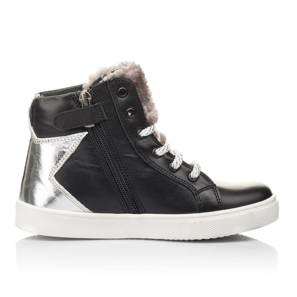 Детские демисезонные ботинки Woopy Fashion черные для девочек натуральная кожа размер 30-36 (4394) Фото 5