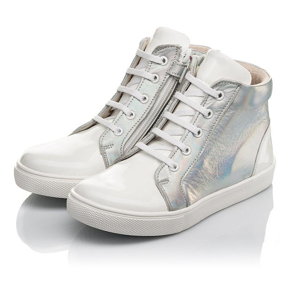 Детские демисезонные ботинки Woopy Fashion белые для девочек натуральная кожа / лаковая кожа размер 31-36 (4395) Фото 2