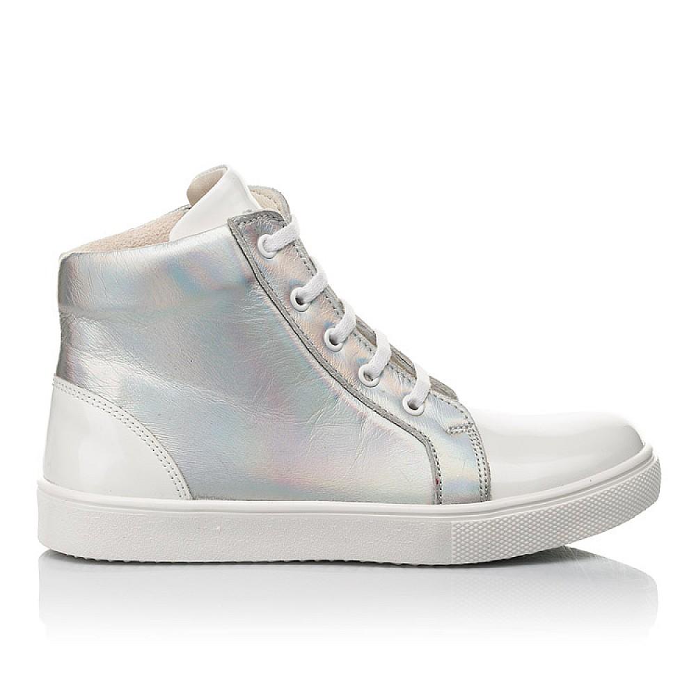 Детские демисезонные ботинки Woopy Fashion белые для девочек натуральная кожа / лаковая кожа размер 31-36 (4395) Фото 3