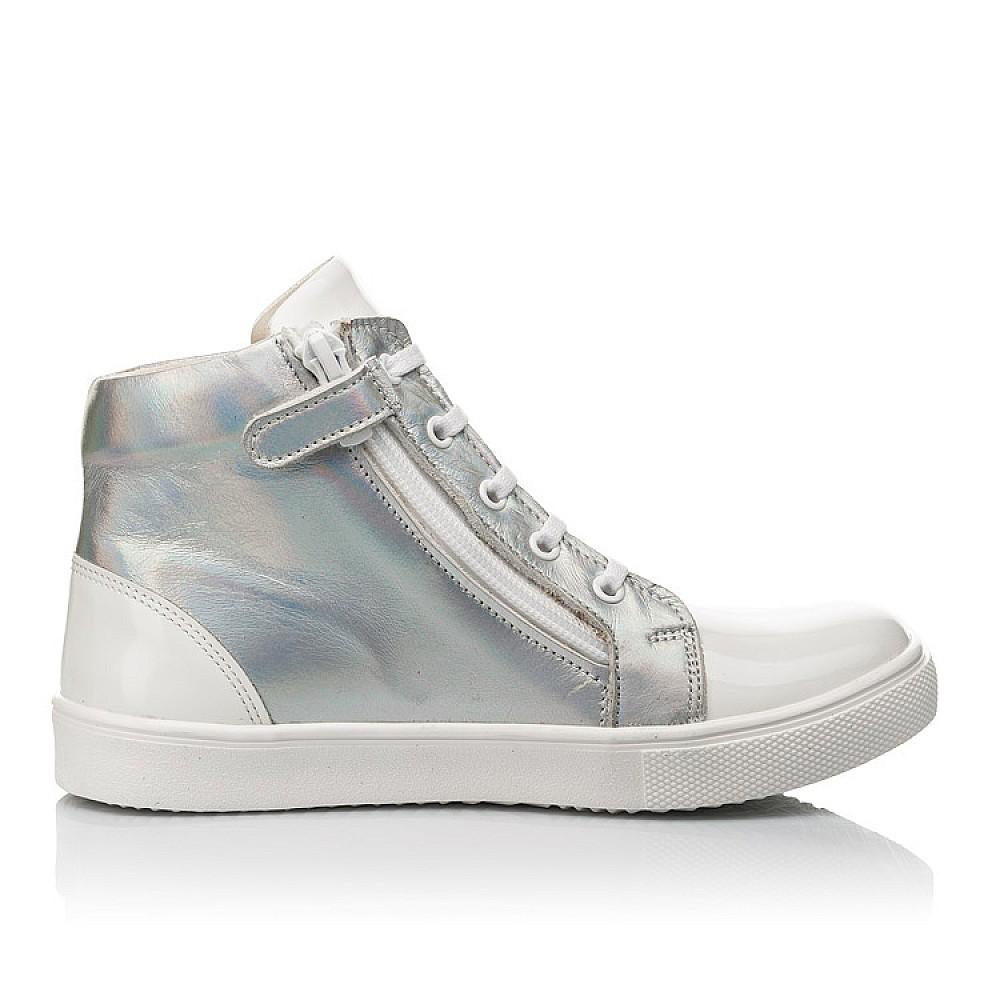 Детские демисезонные ботинки Woopy Fashion белые для девочек натуральная кожа / лаковая кожа размер 31-36 (4395) Фото 4