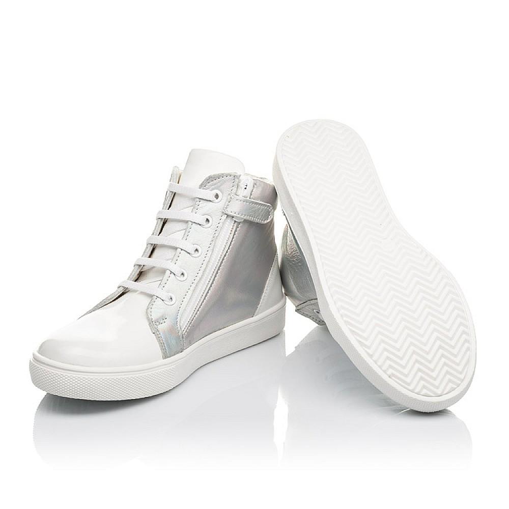 Детские демисезонные ботинки Woopy Fashion белые для девочек натуральная кожа / лаковая кожа размер 31-36 (4395) Фото 5
