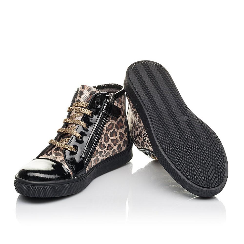 Детские демисезонные ботинки Woopy Fashion черные для девочек натуральная лаковая кожа и нубук размер 29-39 (4398) Фото 2