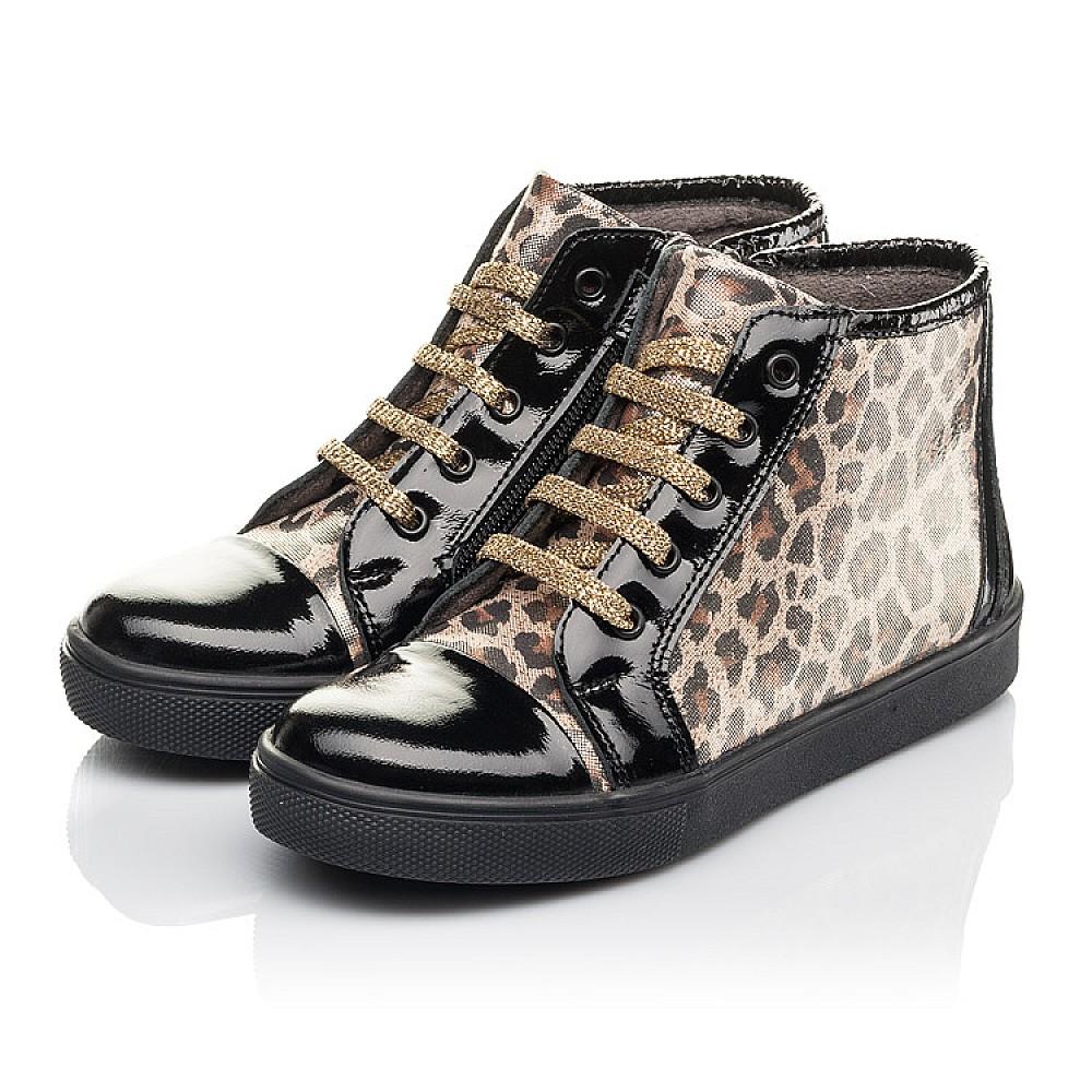Детские демисезонные ботинки Woopy Fashion черные для девочек натуральная лаковая кожа и нубук размер 29-39 (4398) Фото 3