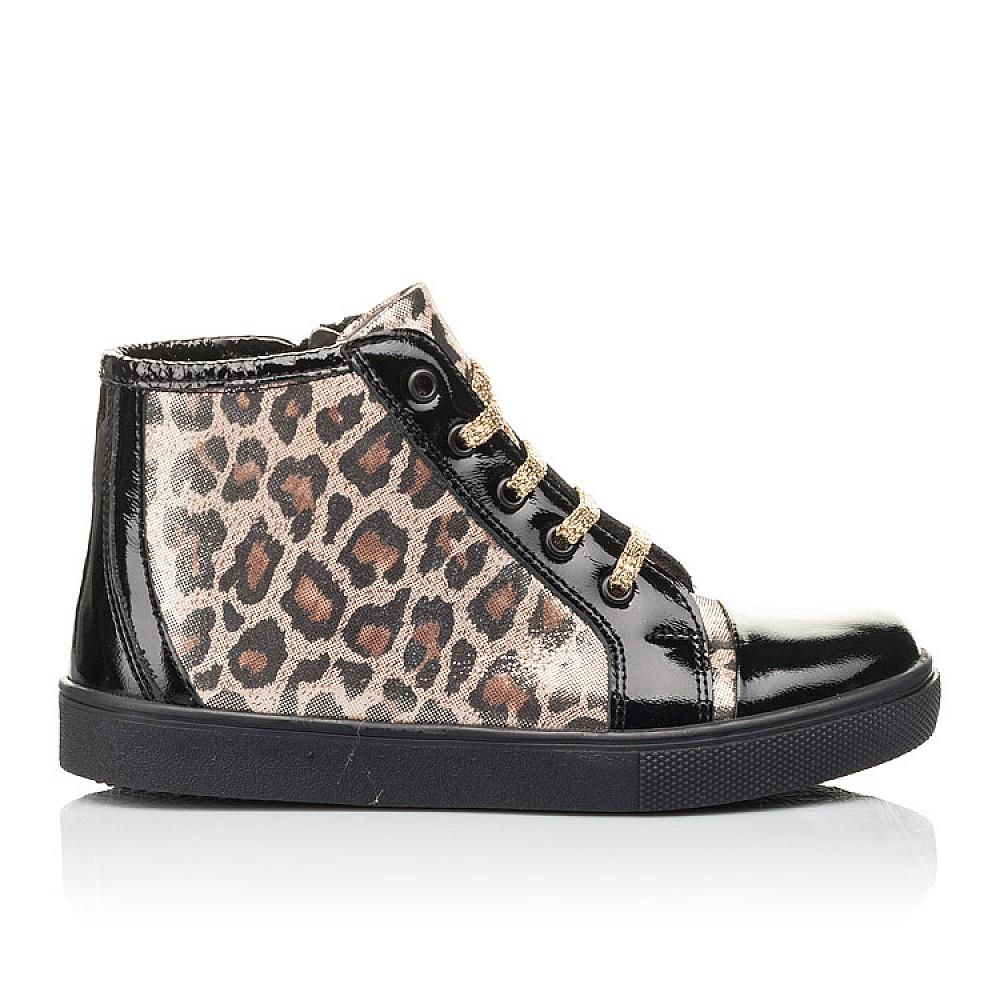 Детские демисезонные ботинки Woopy Fashion черные для девочек натуральная лаковая кожа и нубук размер 29-39 (4398) Фото 4