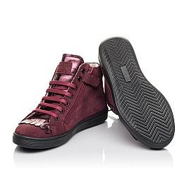Детские демисезонные ботинки Woopy Fashion бордовые для девочек натуральная замша размер 27-40 (4399) Фото 2